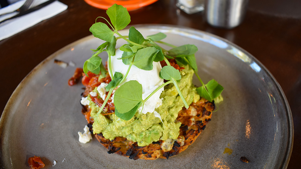 Goat House Elsternwick rosti with avocado and poached egg