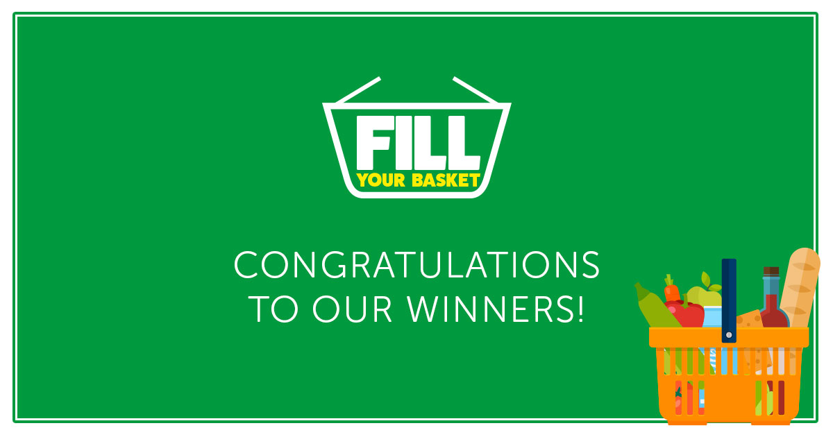 Winners of the Fill Your Basket competition