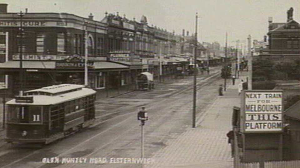 Glen Huntly Road, Elsternwick date unknown (source State Library Victoria)