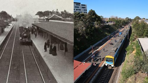 Explore the history of Elsternwick train station